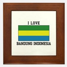 I Love Indonesia Framed Tile