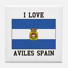 I Love Spain Tile Coaster