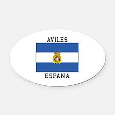 Aviles Espana Oval Car Magnet