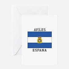 Aviles Espana Greeting Cards