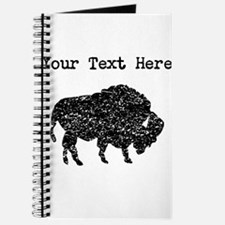 Distressed Bison Silhouette (Custom) Journal