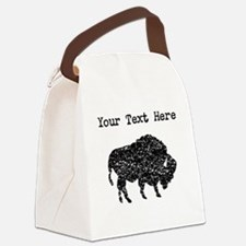 Distressed Bison Silhouette (Custom) Canvas Lunch