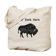 Distressed Bison Silhouette (Custom) Tote Bag