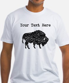 Distressed Bison Silhouette (Custom) T-Shirt
