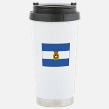 Aviles, Spain Flag Travel Mug