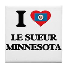 I love Le Sueur Minnesota Tile Coaster