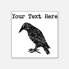 Distressed Crow Silhouette (Custom) Sticker