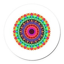 A Rainbow in Light Round Car Magnet