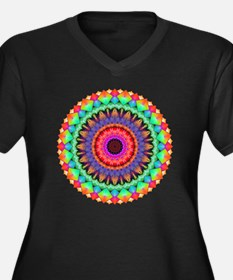 A Rainbow in Women's Plus Size V-Neck Dark T-Shirt