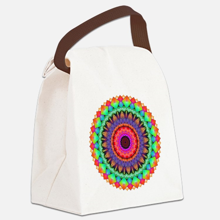 A Rainbow in Light Canvas Lunch Bag
