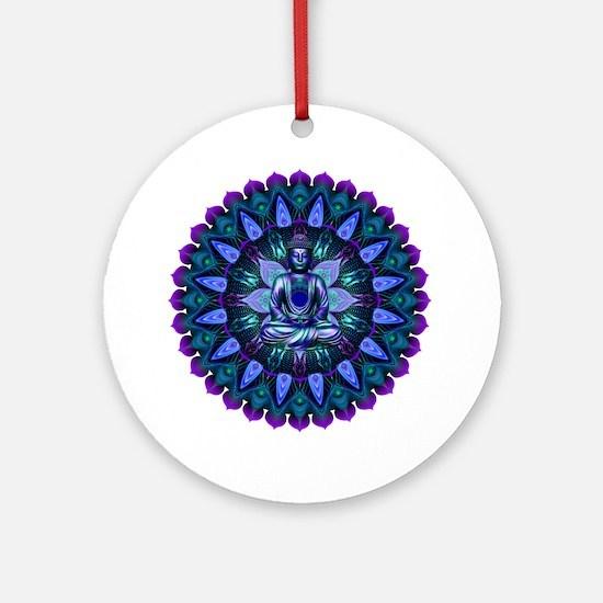The Evening Light Buddha Round Ornament
