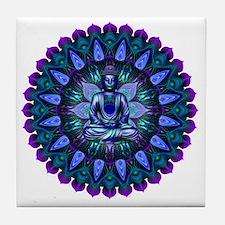 The Evening Light Buddha Tile Coaster
