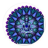 Buddha Round Car Magnets