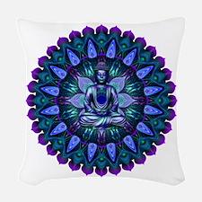 The Evening Light Buddha Woven Throw Pillow