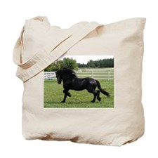 Cute Friesian horse Tote Bag