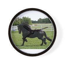 Unique Black horse Wall Clock