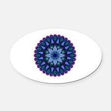 Evening Light Mandala Oval Car Magnet