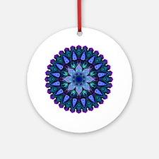 Evening Light Mandala Round Ornament