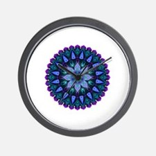 Evening Light Mandala Wall Clock