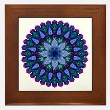 Evening Light Mandala Framed Tile