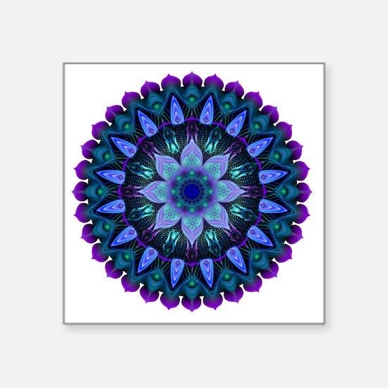 "Evening Light Mandala Square Sticker 3"" x 3"""