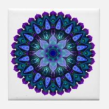 Evening Light Mandala Tile Coaster