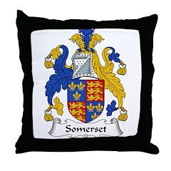 Somerset Family Crest Throw Pillow