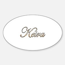 Gold Keira Sticker (Oval)