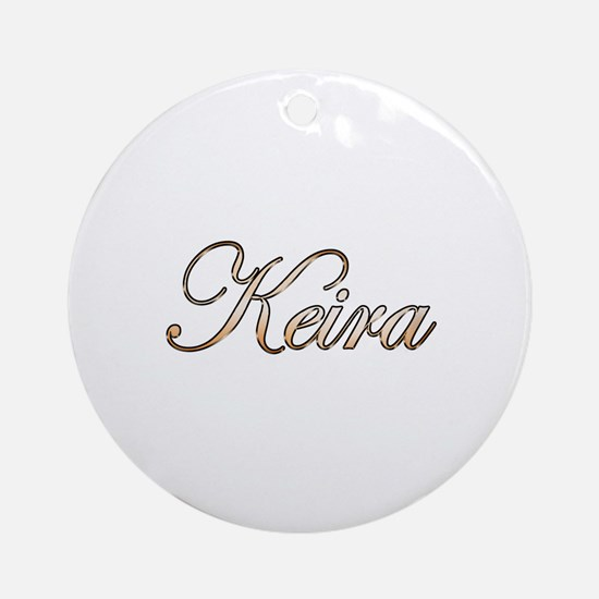 Gold Keira Round Ornament