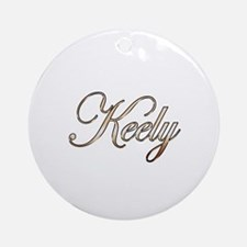 Gold Keely Round Ornament