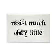 resist much Rectangle Magnet