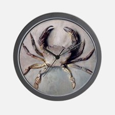 Vintage Crab Painting Wall Clock