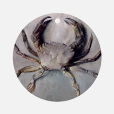 Vintage Crab Painting Ornament (Round)