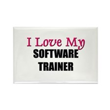 I Love My SOFTWARE TRAINER Rectangle Magnet