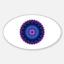 The Evening Light Mandala Sticker (Oval)