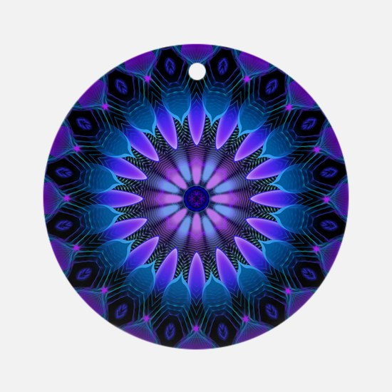 The Evening Light Mandala Round Ornament