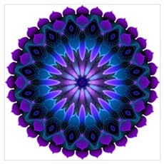 The Evening Light Mandala Framed Print