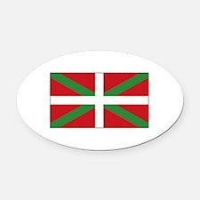 Basque Flag Spain Oval Car Magnet