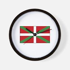 Basque Flag Spain Wall Clock
