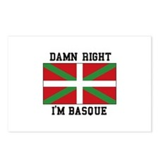 Damn Right I'MBasque Postcards (Package of 8)