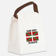 Damn Right I'MBasque Canvas Lunch Bag