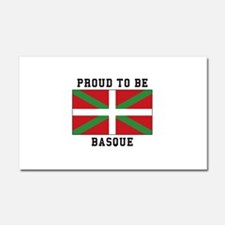 Proud to be Basque Car Magnet 20 x 12