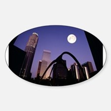 Los Angeles Skyscrapers Oval Decal