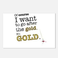 Go after the gold Postcards (Package of 8)