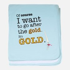 Go after the gold baby blanket