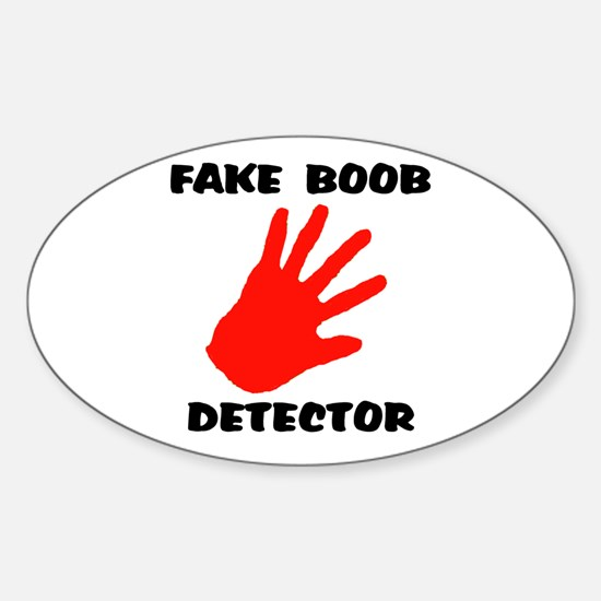 BOOB DETECTOR Oval Decal