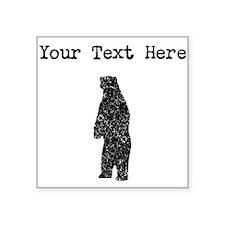 Distressed Standing Bear Silhouette (Custom) Stick
