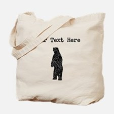 Distressed Standing Bear Silhouette (Custom) Tote