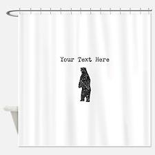 Distressed Standing Bear Silhouette (Custom) Showe
