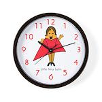 Little Miss Latin Wall Clock